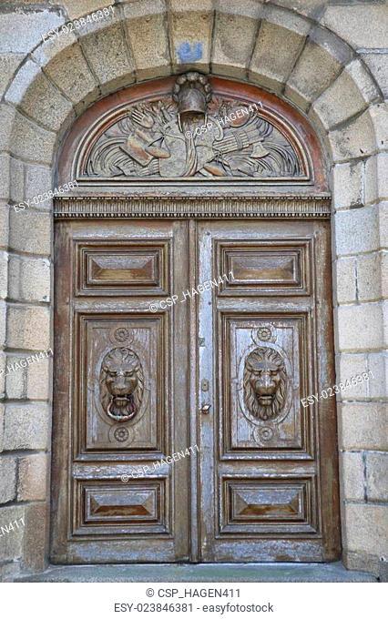 Ancient door in Saint Malo