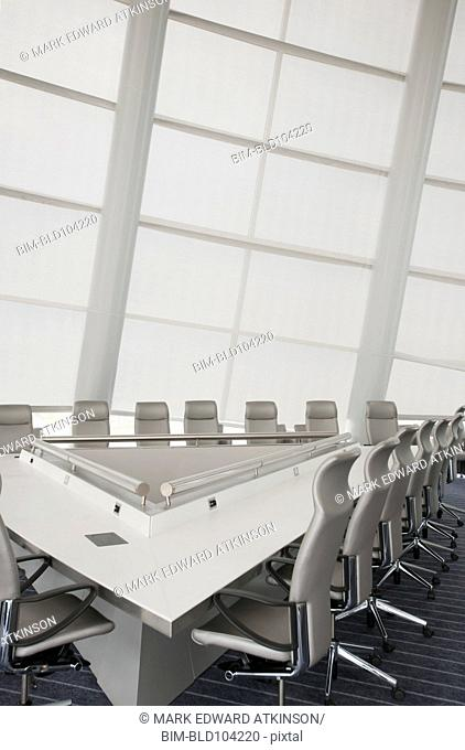 White, modern office conference room