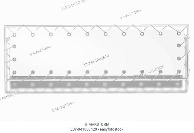Blank horizontal banner, streamer, mockup, isolated. Outdoors information ridgepole for inscriptions, slogans, mottos and so on