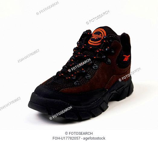 Close-up of black trainer shoe