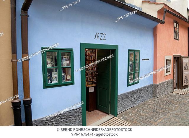 Golden Lane with house of Franz Kafka, Prague, Czech Republic