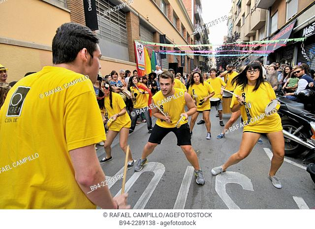 August Festivals in Gracia neighborhood. Barcelona, Catalonia, Spain