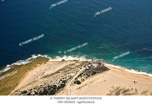 Trafalgar's lighthouse, Caños de Meca  aerial view Cádiz area Spain