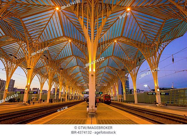 train station Lisbon East at sunset, Parque das Nações, Lisbon, Portugal