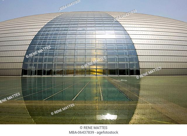 China, Beijing, new Opera house near Tiananmen Square by French architect Paul Andreu