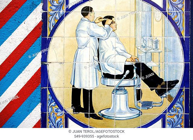 draw in a barber shop