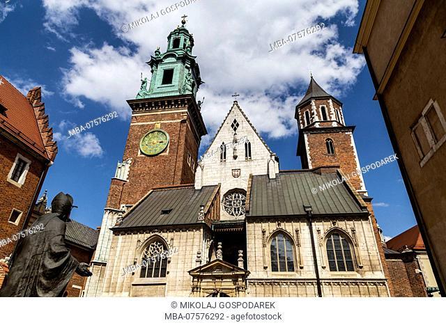 Europe, Poland, Lesser Poland, Cracow / Krakow, Castle Wawel