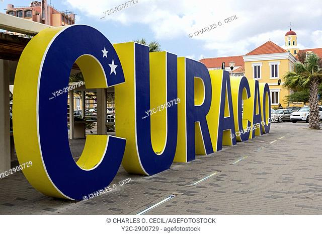 Willemstad, Curacao, Lesser Antilles. Street Scene, Popular Photographic Site for Tourists