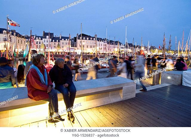 Port of Vannes, Morbihan, Brittany, France, Europe