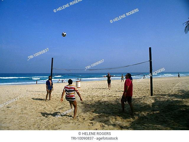 Dubai UAE Jumeira Beach Park Volley Ball On Beach