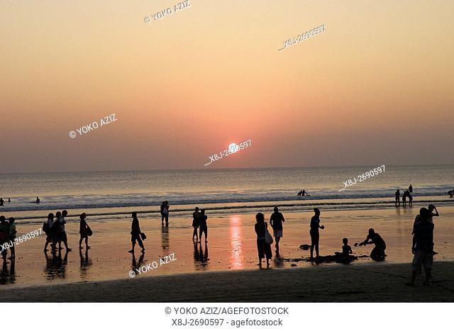 Sunset on Kuta beach, Bali, Indonesia