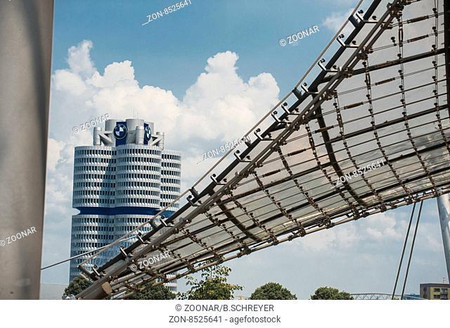 BMW-Welt, BMW-World, Kolben, Museum, Munich, Bavaria, Bayern, BMW Logo