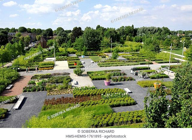 France, Nord, Lambersart, the Gardens of the Colosseum