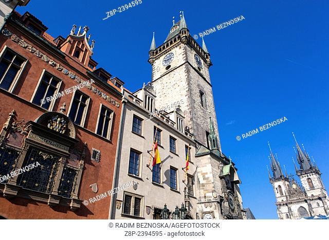 Town hall Prague Old Town Czech Republic