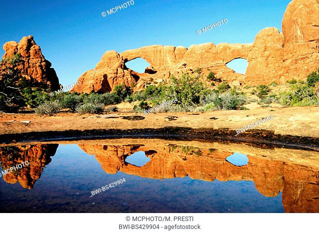 the windows at Arches National Park, USA, Utah, Arches National Park