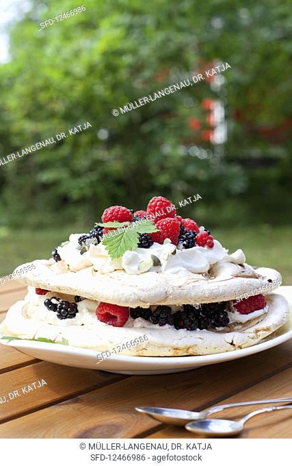 Berries Cream Pavlova