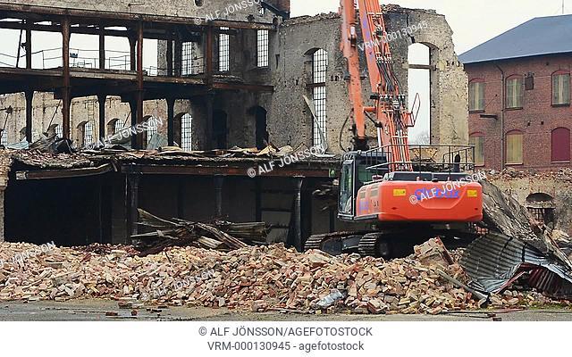 Demolition of a industry ruin