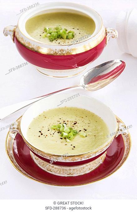 Vichyssoise Cold potato and leek soup