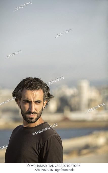 Portrait of a Middle Eastern man outdoors