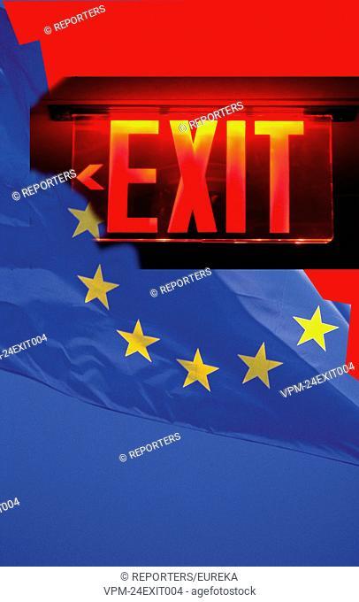 Great Britain leaves UE;la Grande Bretagne quitte l'Union Europeenne Reporters / EUREKA