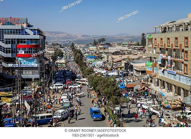 Elevated View Of The The Merkato Area, Addis Ababa, Ethiopia