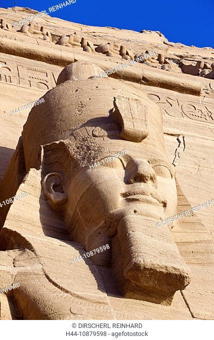 Colossal Statue of Pharao Ramesses II, Abu Simbel, Egypt