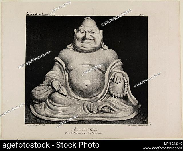 Porcelain figure from China (taken from the private collection of Mr. Charles Philipon), plate 416 - 1834 - Honoré Victorin Daumier French