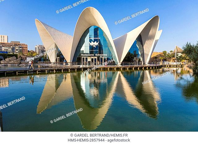 Spain, Valencia, City of Sciences and Arts, Oceanografic, the largest oceanographic park in Europe