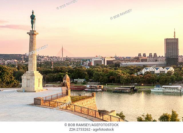 Pobednik ('The Victor') monument, Belgrade Fortress, Belgrade, Serbia