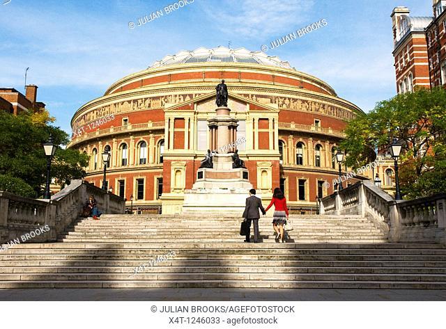 The Royal Albert Hall on Kensington Gore, London, UK