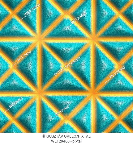 Seamless tileable decorative 3d abstract background pattern