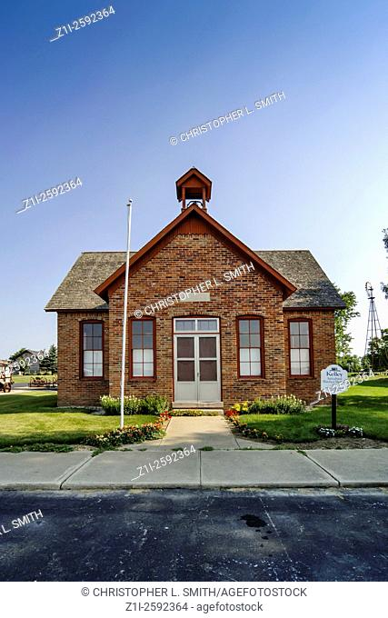 Traditional midwest rural one-room school house