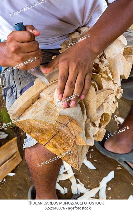 """Máscara """"""""Danza de los Diablitos"""""""", Boruca (also known as the Brunca or the Brunka) indigenous people, Costa Rica, Central America, America"""