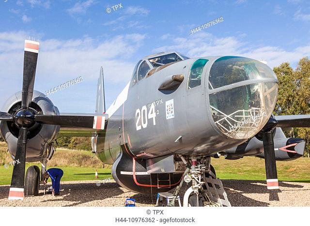 England, Shropshire, Cosford Museum, Lockheed Neptune WWII American Plane