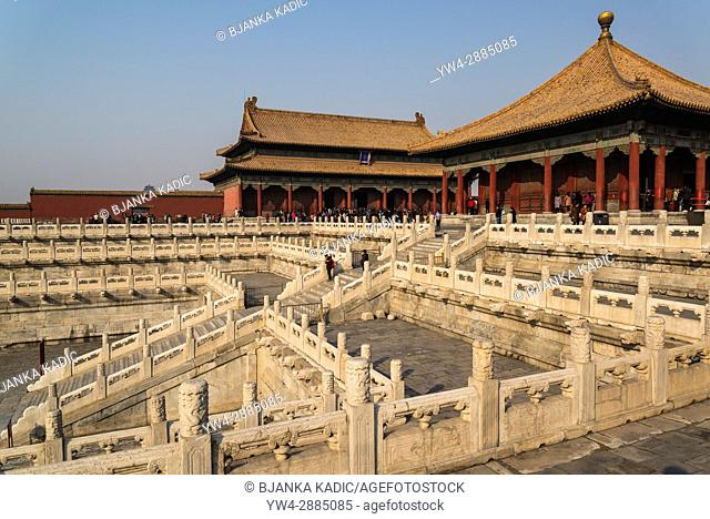 Hall of Supreme harmony, Forbidden City, Chinese imperial palace, Beijing, China