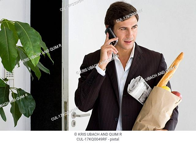 Businessman at home