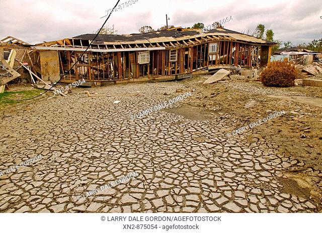 Hurrican Katrina damage. New Orleans, La.. The Ninth Ward