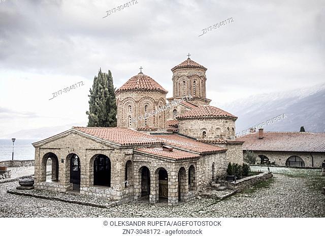 Exterior of Monastery of Saint Naum, 10th century, (UNESCO World Heritage List, 1979), Ohrid, Macedonia