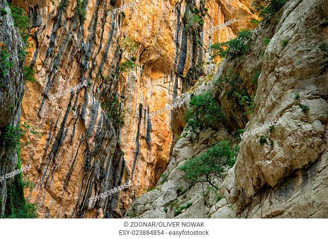 canyon of Gorropu on Sardinia