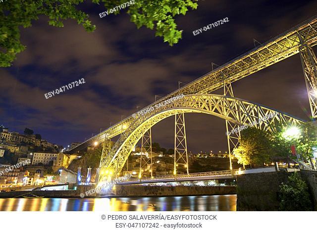 night view in Porto, Portugal