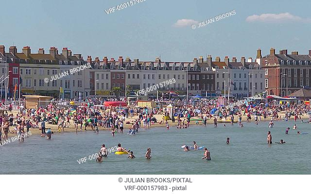Weymouth beach at the height of summer