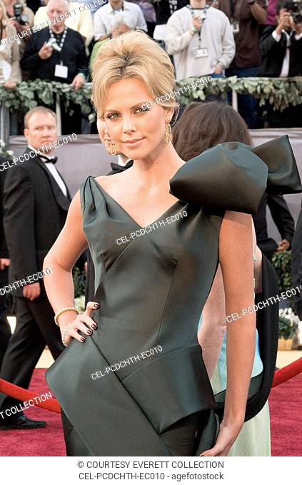Charlize Theron (wearing Dior Haute Couture by John Galliano) on the Red Carpet at the 78TH ANNUAL ACADEMY AWARDS, Kodak Theatre, Los Angeles, CA, March 05