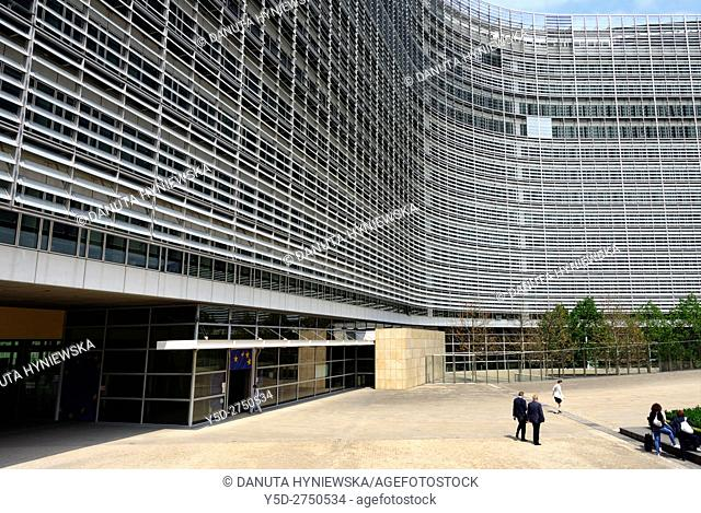 Berlaymont building - headquarters of the European Commission in Brussels, Belgium, Europe