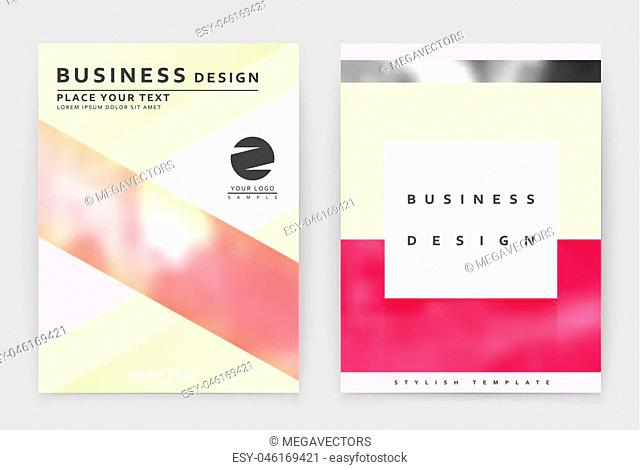 Layout design template, annual report brochure. Business flyer design template