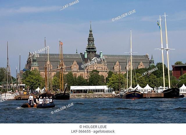 Zodiac excursion from cruiseship MS Deutschland Reederei Peter Deilmann through Stockholm canals, Stockholm, Stockholm, Sweden