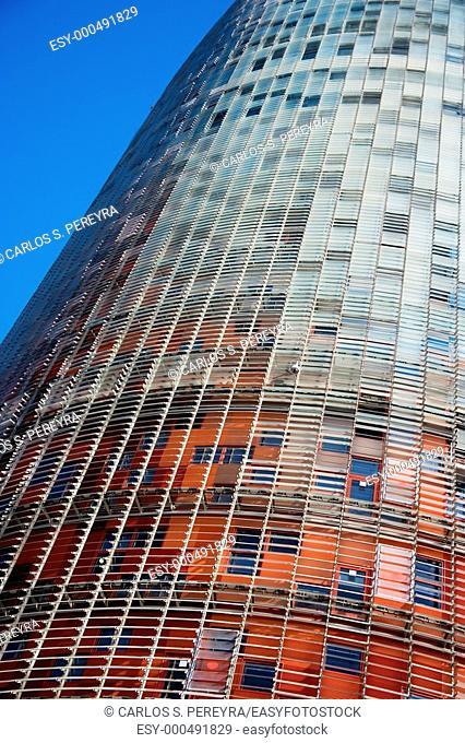 Agbar tower, Barcelona, Catalonia, Spain
