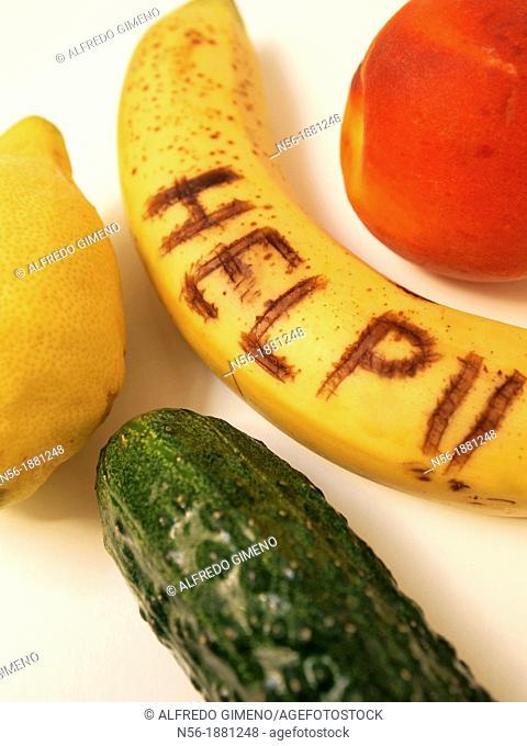 assortment of fruit SOS
