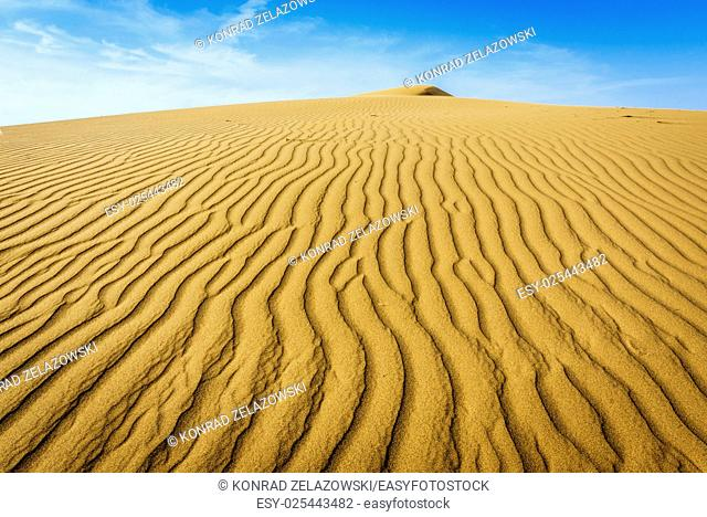 Ripple marks on sand dunes of Maranjab Desert in Iran