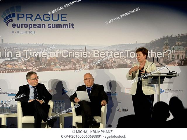 The crises tackled by Europe can be faced only jointly on the European level, Czech Foreign Minister Lubomir Zaoralek (left) to said at the beginning of the...