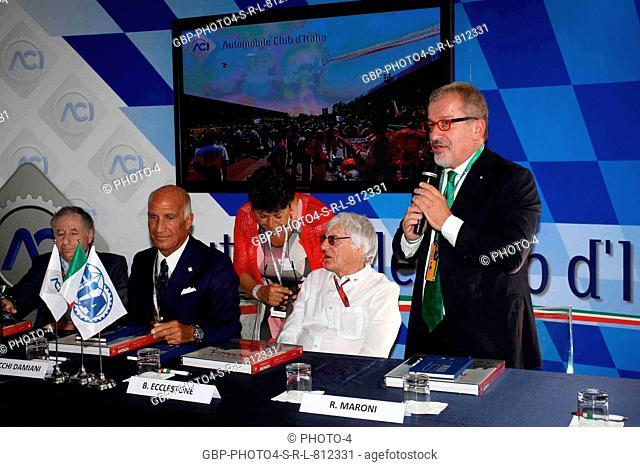02.09.2016 - Aci finalize Monza agreement with FOM, (L-R) Jean Todt (FRA), President FIA, Dr. Angelo Sticchi Damiani (ITA) Aci Csai President